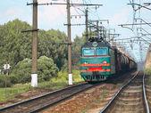 Nákladní vlak — Stock fotografie
