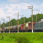 Cargo train — Stock Photo
