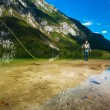 Fly Fisherman — Stockfoto