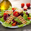 Fresh mixed salad with grilled cheese — Stock Photo #14902409