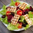 Fresh mixed salad with grilled cheese — Stock Photo #14902685