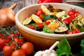 Oven geroosterde groenten — Stockfoto