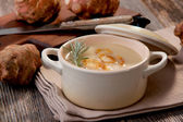 Jerusalem artichoke soup — Stock Photo
