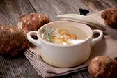 Jerusalem artichoke soup — Stock Photo