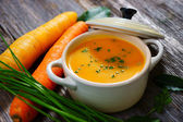 Carrot soup — Stock Photo