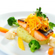 Fillet of salmon with vegetable   — Stock Photo