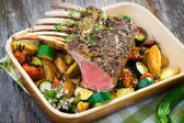 Grilled Rack of Lamb chops — Stock Photo