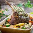 Grilled Rack of Lamb chops — Stock Photo #31725749