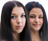 Portrait of two beautiful girls — Stok fotoğraf