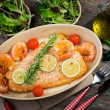 salmon fillet — Stock Photo #38891339
