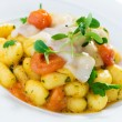 Potato Gnocchi with Lardo — Stock Photo