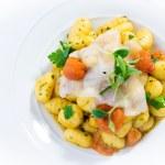 Potato Gnocchi with Lardo — Stock Photo