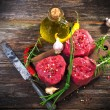 Raw steaks — Stock Photo
