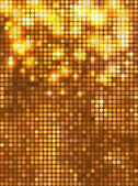 Vertical gold mosaic — Stock Vector
