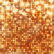 Gold abstract sparkling background with circles — Stock Vector