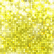 Yellow abstract sparkling background with circles — Stock Vector