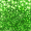 Green abstract sparkling background with circles — Stok Vektör