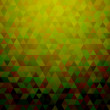 Green triangles abstract background — Stock Vector