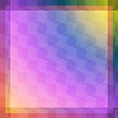Abstracción cubo rosa y azul — Vector de stock