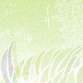 Vintage grön abstrakt floral bakgrund — Stockvektor