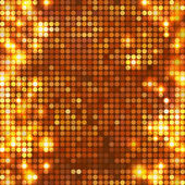 Round gold mosaic spots vertical — Stock Vector
