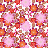 Simply seamless pink flower background — Stockvektor