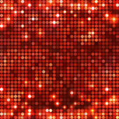 Round red mosaic spots horizontal — Stock Vector