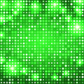 Green abstract background with circles — Stock Vector