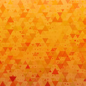 Orange background with triangles — Stock Vector