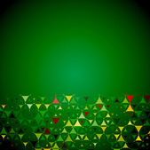 Abstract green background with yellow shapes bottom — Stock Vector
