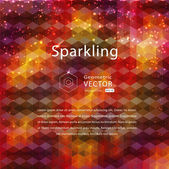 Varicolored geometric sparkling abstract background — Stock Vector