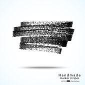 Handmade dark marker stripes — Stock Vector