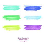 Handmade marker stripes — Stock Vector