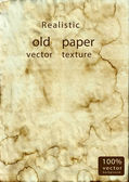 Realistic old papper vector texture — Stock Vector