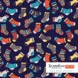 Socks seamless pattern — Stock Vector