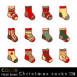 Christmas Socks set — Stock Vector
