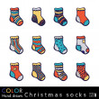 Christmas Socks set — Stockvektor