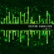 Mosaic green equalizer — Stock Vector #36324403