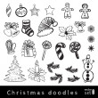 Hand Drawn Christmas Set — Stock Vector