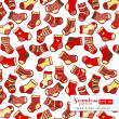 Red yellow Socks seamless pattern — Stock Vector