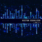 Mosaic blue equalizer — Stock Vector