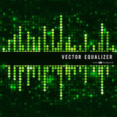 Mosaic green equalizer — Stock Vector