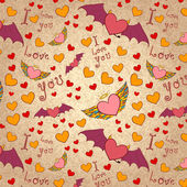 Valentine color seamless pattern — Cтоковый вектор