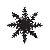 Vector hand drawn snowflake — Stock Vector