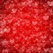 Red St. Valentine hearts — Vector de stock #36986935