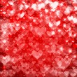 Red St. Valentine hearts — Stock vektor