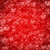 Kırmızı st. valentine Kalpler — Stok Vektör