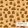 Gifts seamless pattern — Stock Vector