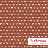 St. Valentine hearts. Abstract vector background — Vector de stock