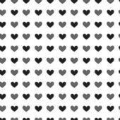 Black St. Valentine hearts. Abstract vector background — Stock Vector